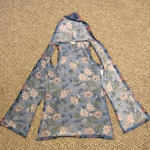 Hooded vest for girls